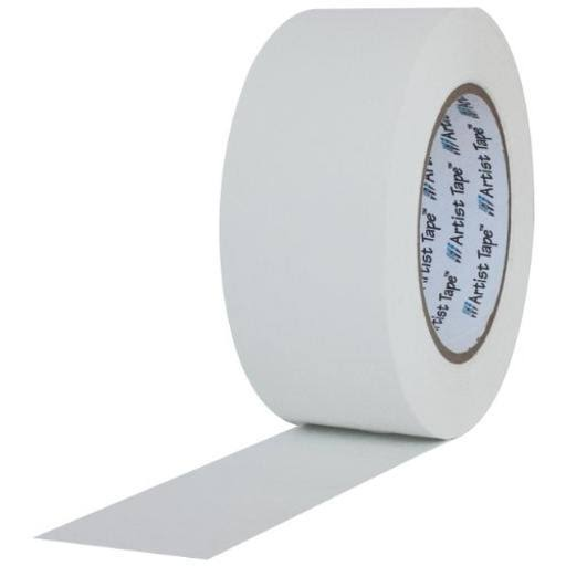 ProTapes Artist Tape Flatback Printable Paper Board or Console Tape - White, 60yds