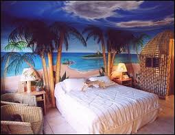 Nice Paint Wall With Beach Style Bedroom Ideas