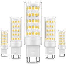 ulight led g9 light bulbs 6000k daylight white 6w jd type g9