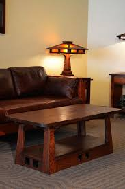 coffee table handmade quartersawn oak mission style coffee table