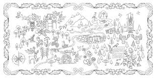 Enchanted Forest Coloring Book 9 Symbols An Inky Quest