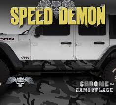 100 Speed Demon Trucks 20072017 4 Door Jeep Wrangler Rocker Wraps Camouflage Black Urban