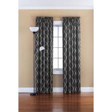 mainstays room darkening solid woven window curtains set of two