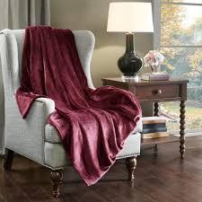 kuscheldecke bordeaux flauschig weiche wohndecke decke warm flanell fleecedecke sofadecke bettüberwurf 150x200cm