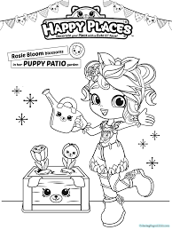 Shopkins Shoppies Coloring Pages For Kids