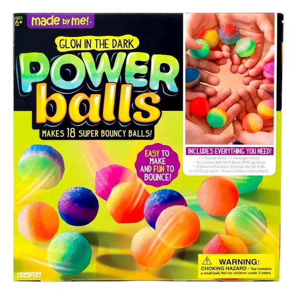 Made by Me Decorate Your Own Glow in The Dark Power Balls Kit