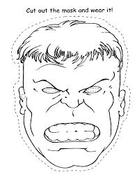 Free Coloring Pages Of Hispaniola Hulk Mask