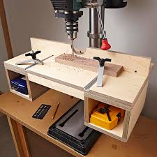do it all drill press table woodworking plan instantly up your