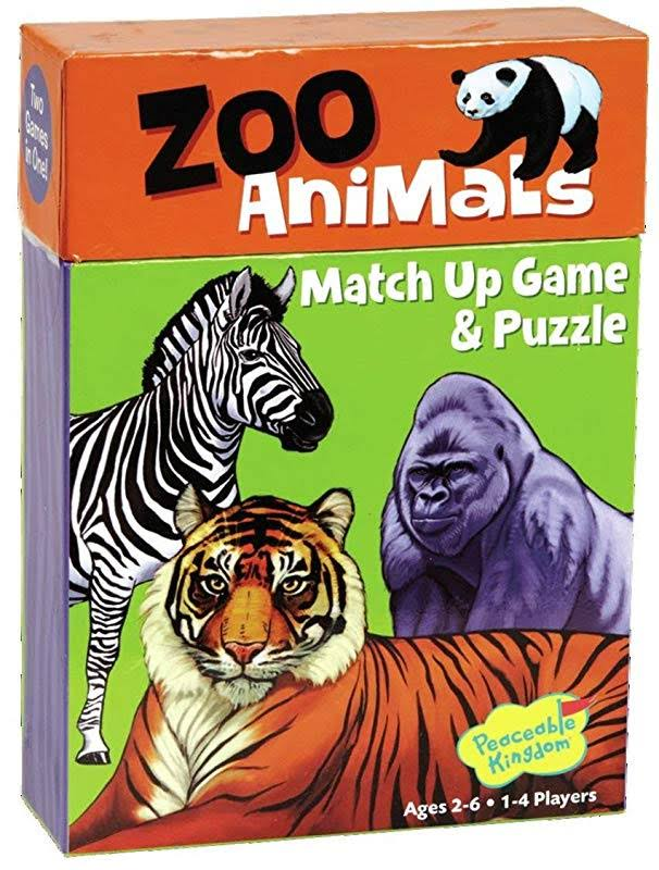 Peaceable Kingdom Zoo Animals Match Up Game and Puzzle