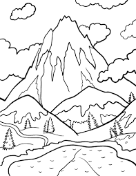 Printable Mountain Coloring Page Free PDF Download At Coloringcafe