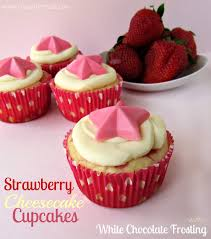 Strawberry Cheesecake Cupcakes with White Chocolate Frosting