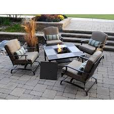 Patio Furniture Conversation Sets With Fire Pit by Better Homes And Gardens Bradstone 5 Piece Patio Conversation Set