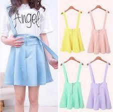 Skirt Suspenders Mini Macaron Pastel Grunge Kawaii Summer Purple