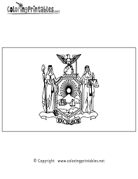 New York Flag Coloring Page Inside Pages Printable