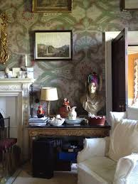 Via May 2014 The Irish Aesthete Furness House In County Kildare Check Out That Wallpaper