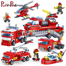 100 Toy For Trucks 348PCS 4IN1 Firefighting Cars Helicopter Model Figures