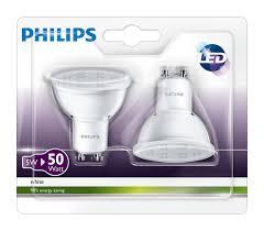 philips 3000 k 36d gu10 led spot light bulbs 4 5 w 50w white