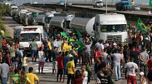 Head Of Brazil's State Oil Company Resigns In Wake Of Trucker Strike ... Truck Drivers Strike Editorial Stock Photo Image Of Made 67052078 Brazils Drivers Continue Strike Video Dailymotion Definite From June 18 Moryteam Truck On To Protest Job Cuts Corbas Snow Plow Garbage Union Could Vote Across Iran Continue Into Eighth Day Their Brazilian President Sends In Troops Remove Blockages As Chaos Block Major Roads Pretoria Bulawayo24 News Port In Long Beachlos Angeles Nov 13 Teamsters 2017 Youtube Brazil Cars Desperate For Petrol Takes A