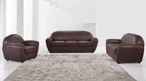 fauteuil canape salon en microfibre imitation vintage avec canapé 3 places