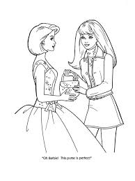 Fashion Coloring Sheets Free Printable Design Pages Barbie Kids