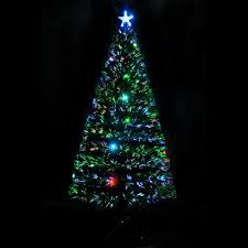 Shop HomCom 6 Indoor Artificial Fiber Optic Light Up Holiday Xmas Decoration Christmas Tree