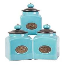 tuscan drake design turquoise kitchen canisters will take a set