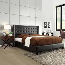 Roma Tufted Wingback Headboard by Stunning Master Bedroom With Gray Paint Color Joss U0026 Main Gray