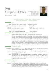 Curriculum Vitae Resume Template At Cv Example sradd
