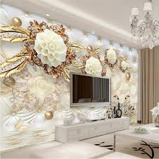 Beibehang Swan Jewelry Reflection Custom Floor 3D Wall Paper Mural 3d Wallpaper For Walls 3 D Painting Stickers Home