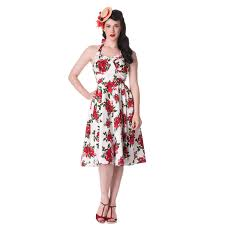 hell bunny cannes white floral rose rockabilly vintage 50s party