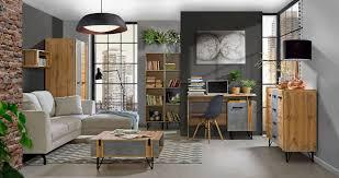 wohnzimmer komplett set e atule 7 teilig farbe eiche grau