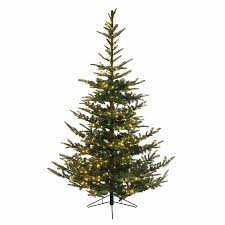 5ft Pre Lit White Christmas Tree by Shop Northlight Everlands 7 5 Ft 1 388 Tip Pre Lit Noble Fir