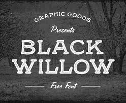 Black Willow Is A Free Rustic Font Inspired By Vintage Handrawn Signs And Showcards Lettering It Comes In Two Styles Regular Rough