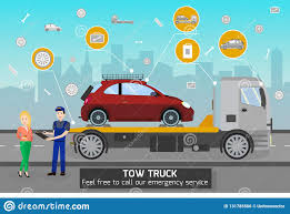100 Free Tow Truck Service Driver Stock Illustrations 201 Driver Stock
