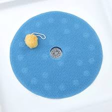 large shower mat with center drain hole round pvc comfort foam mat