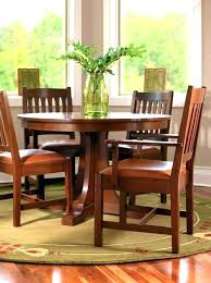Mission Style Dining Room Set Round Table