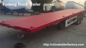 100 Truck Bed Trailers Flat Bed Trailers 2 Axle Flatbed 20ft 40ft Flatbed Container Semi