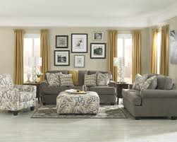 Living Room Furniture For Ideas Carpet Grey Sofa Cushions Pouf Table Frame