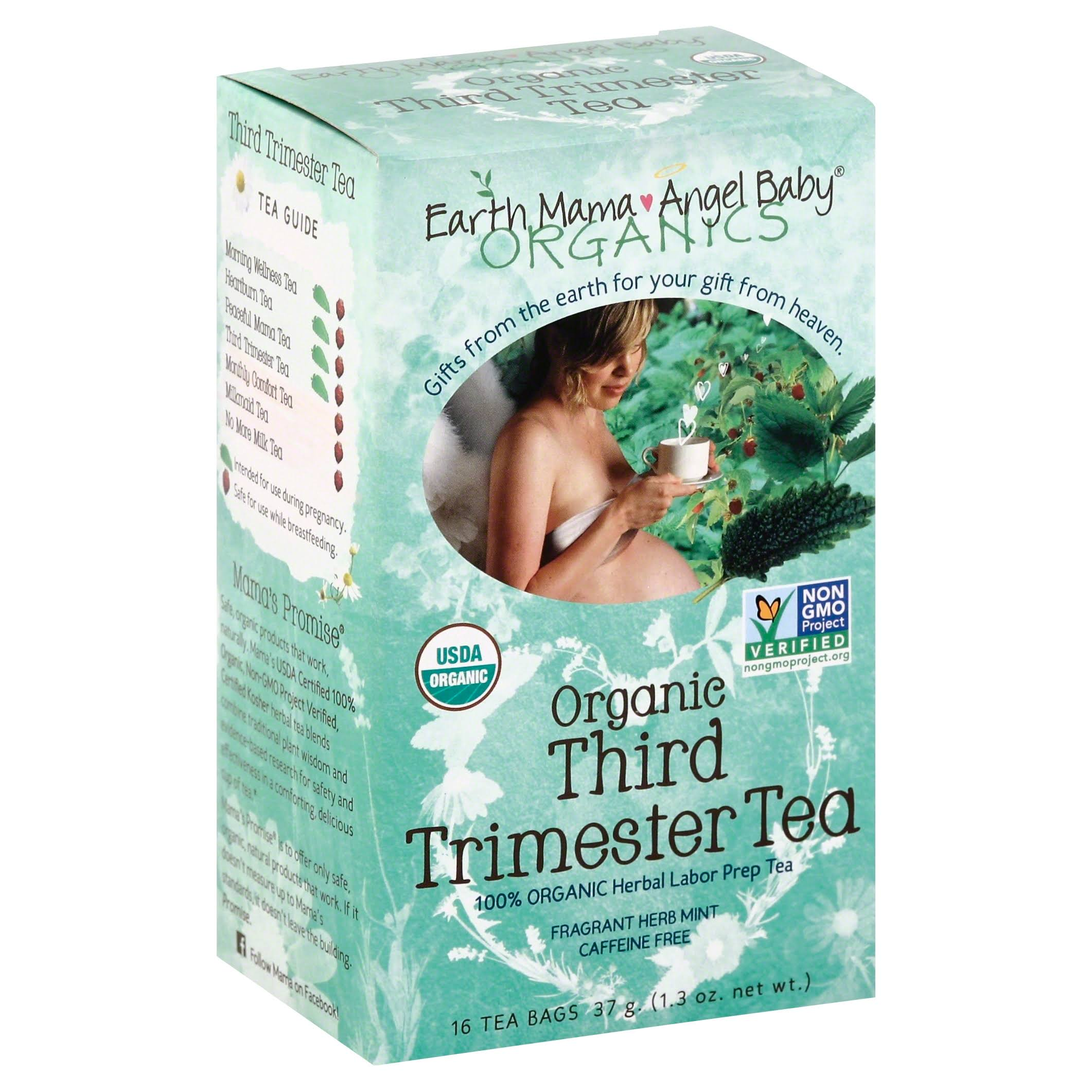 Earth Mama Angel Baby Organics Third Trimester Tea - 16 Tea Bags, Mint