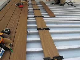 Floor Joist Span Table Deck by Aluminum Decking U0026 Deck Rail Deck Drainage System Waterproof