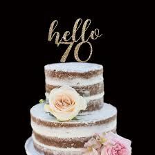 50th Birthday Cake Topper Hello Fifty Happy Birthday