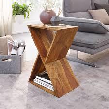 finebuy beistelltisch fb58564 design x form sheesham massivholz tisch wohnzimmer massiv kleiner couchtisch echtholz kaufen otto