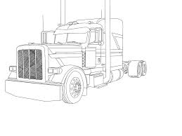 100 Semi Truck Tattoos Peterbilt Coloring Pages