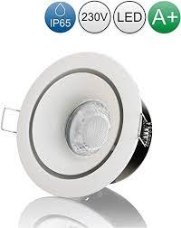lambado led spots für badezimmer ip65 in edelstahl