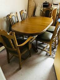 esszimmer tisch eiche rustikal massiv 6 stühle tisch