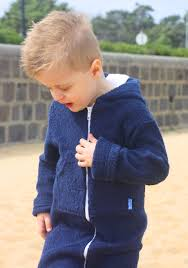 Boys Navy Cotton Towelling Hooded Swim Robe Find It On Ejkids