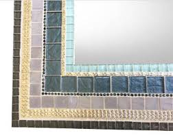 Blue Mosaic Bathroom Mirror by Bathroom Mirrors Etsy