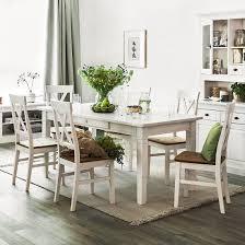 maison belfort esstisch bergen ii massivholz kiefer rechteckig weiß 180x78x90 cm bxhxt landhaus für 6 8 personen