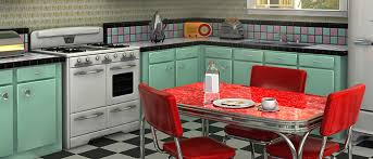Fascinating 60s Style Kitchen Tittle
