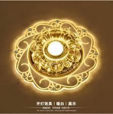 luxury flower modern led ceiling light with glass lshade k9